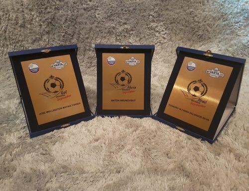 Slovenská Varta futsal liga odměnila nejlepší jednotlivce měsíce září!