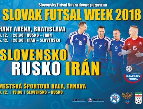 Slovnesko čeká druhý ročník turnaje Slovak Futsal Week za ůčasti futsalových velmocí.